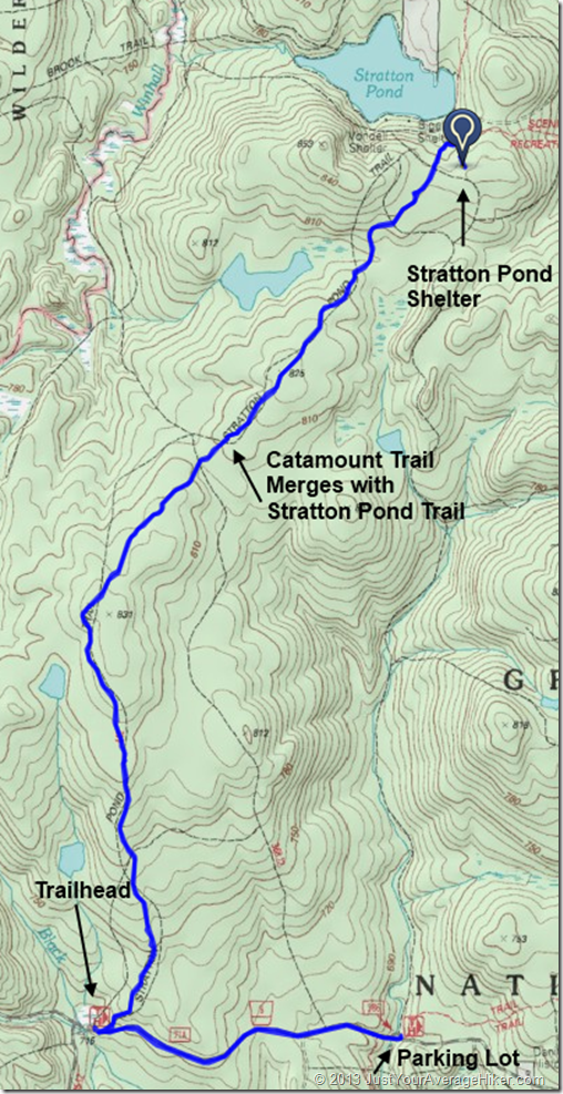 Stratton Pond Trail - Marked