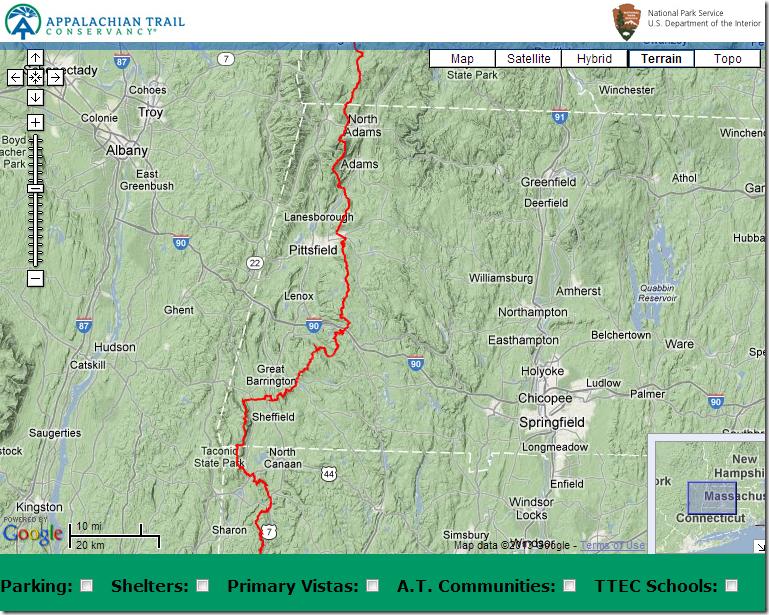Section Hiking Massachusetts On The Appalachian Trail